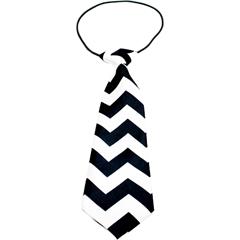 Mirage Pet Products Big Dog Neck Tie Chevron Black
