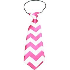 Mirage Pet Products Big Dog Neck Tie Chevron Bright Pink