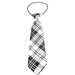 Mirage Pet Products Big Dog Neck Tie Plaid White