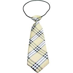 Mirage Pet Products Big Dog Neck Tie Plaid Cream