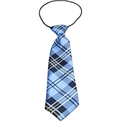 Mirage Pet Products Big Dog Neck Tie Plaid Blue