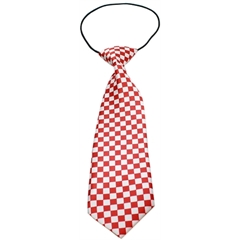 Mirage Pet Products Big Dog Neck Tie Checkered Red