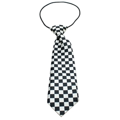 Mirage Pet Products Big Dog Neck Tie Checkered Black