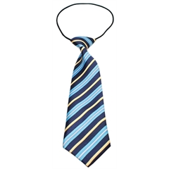 Mirage Pet Products Big Dog Neck Tie Blue and Khaki