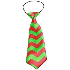 Mirage Pet Products Christmas Chevron Big Dog Neck Tie