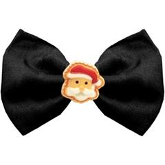Mirage Pet Products Santa Face Chipper Black Pet Bow Tie