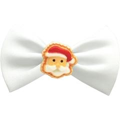 Mirage Pet Products Santa Face Chipper White Pet Bow Tie