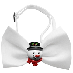 Mirage Pet Products Frosty Chipper White Pet Bow Tie