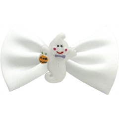 Mirage Pet Products Ghost Chipper White Pet Bow Tie