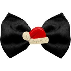 Mirage Pet Products Santa Hat Chipper Black Pet Bow Tie