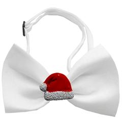 Mirage Pet Products Santa Hat Chipper White Pet Bow Tie