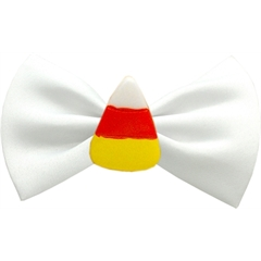 Mirage Pet Products Candy Corn Chipper White Pet Bow Tie