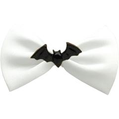 Mirage Pet Products Bat Chipper White Pet Bow Tie