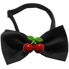 Mirage Pet Products Red Cherry Chipper Black Bow Tie