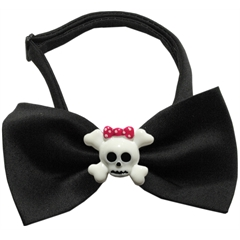 Mirage Pet Products Girly Skull Chipper Black Bow Tie