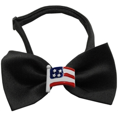 Mirage Pet Products American Flag Chipper Black Bow Tie