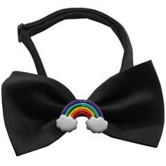 Mirage Pet Products Rainbow Chipper Black Bow Tie