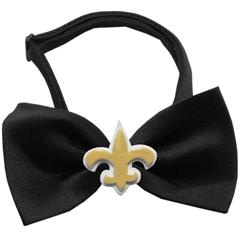 Mirage Pet Products Gold Fleur de Lis Chipper Black Bow Tie
