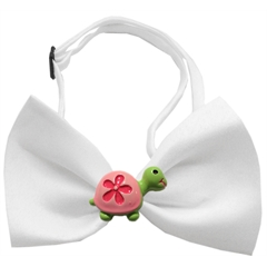Mirage Pet Products Turtle Chipper White Bow Tie