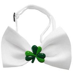 Mirage Pet Products Shamrock Chipper White Bow Tie