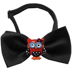 Mirage Pet Products Patriotic Owls Chipper Black Bow Tie