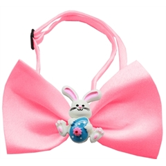 Mirage Pet Products Easter Bunny Chipper Bubblegum Pink Bow Tie