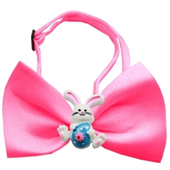 Mirage Pet Products Easter Bunny Chipper Hot Pink Bow Tie