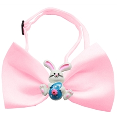 Mirage Pet Products Easter Bunny Chipper Light Pink Bow Tie