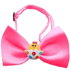 Mirage Pet Products Easter Chick Chipper Hot Pink Bow Tie