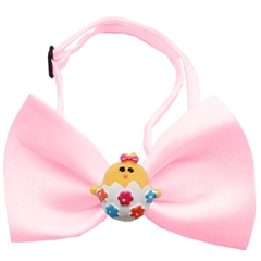 Mirage Pet Products Easter Chick Chipper Light Pink Bow Tie
