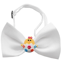 Mirage Pet Products Easter Chick Chipper White Bow Tie