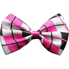 Mirage Pet Products Dog Bow Tie Plaid Pink