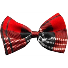 Mirage Pet Products Dog Bow Tie Plaid Red