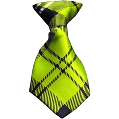 Mirage Pet Products Dog Neck Tie Plaid Lime