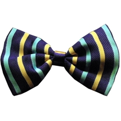 Mirage Pet Products Dog Bow Tie Purple and Aqua Stripes