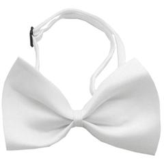 Mirage Pet Products Plain White Bow Tie