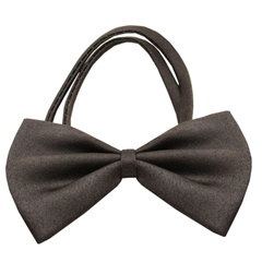 Mirage Pet Products Plain Brown Bow Tie