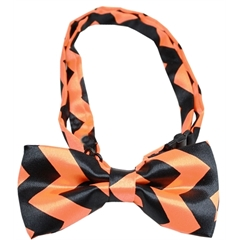 Mirage Pet Products Chevron Orange Bow Tie