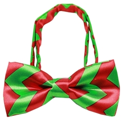 Mirage Pet Products Chevron Christmas Bow Tie