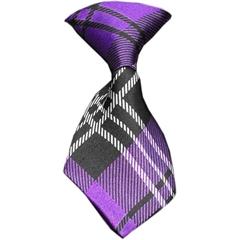 Mirage Pet Products Dog Neck Tie Plaid Purple