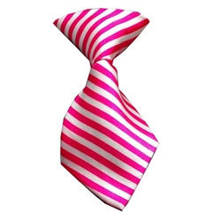 Mirage Pet Products Dog Neck Tie Striped Pink