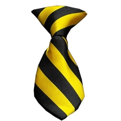 Mirage Pet Products Dog Neck Tie Striped Yellow