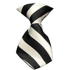 Mirage Pet Products Dog Neck Tie Striped White