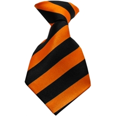 Mirage Pet Products Dog Neck Tie Striped Orange