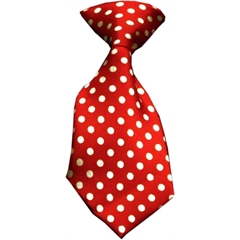 Mirage Pet Products Dog Neck Tie Swiss Dot Red