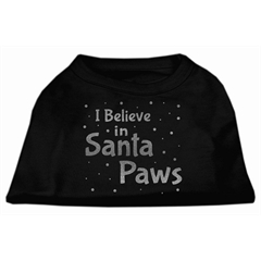 Mirage Pet Products Screenprint Santa Paws Pet Shirt Black XXXL (20)