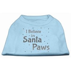 Mirage Pet Products Screenprint Santa Paws Pet Shirt Baby Blue Med (12)