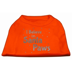 Mirage Pet Products Screenprint Santa Paws Pet Shirt Orange XXXL (20)