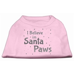 Mirage Pet Products Screenprint Santa Paws Pet Shirt Light Pink Med (12)