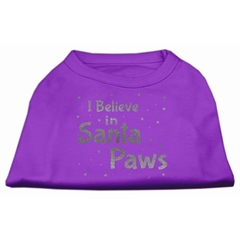 Mirage Pet Products Screenprint Santa Paws Pet Shirt Purple XL (16)